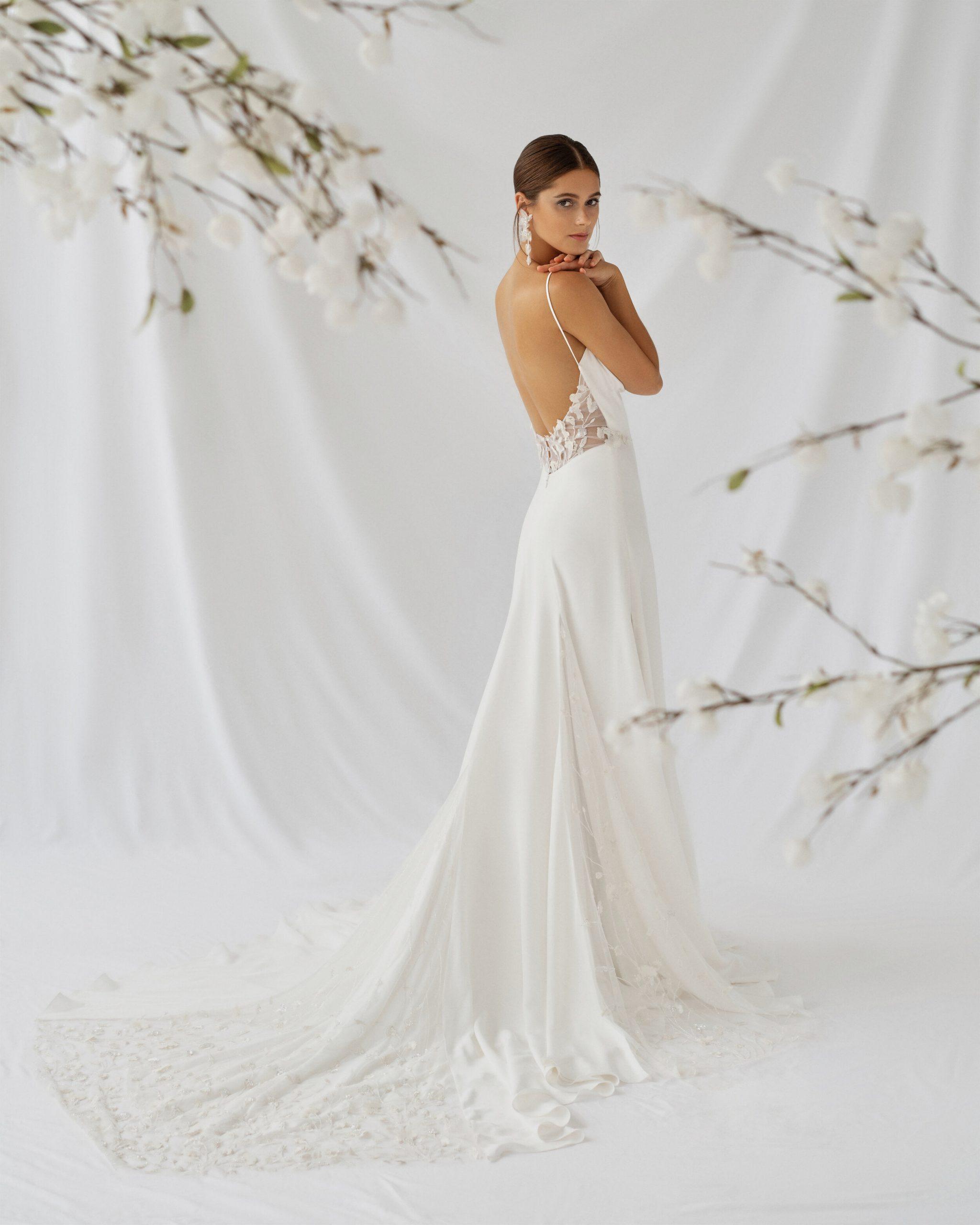 Alexandra Grecco Fiorella Wedding Dress Low Back