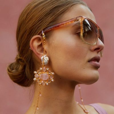 Pink-and-pearl-statement-earrings