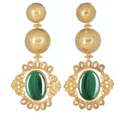emerald-green-gold-statement-earrings