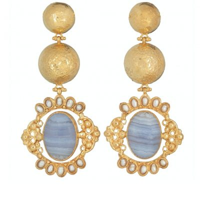 powder blue agate earrings