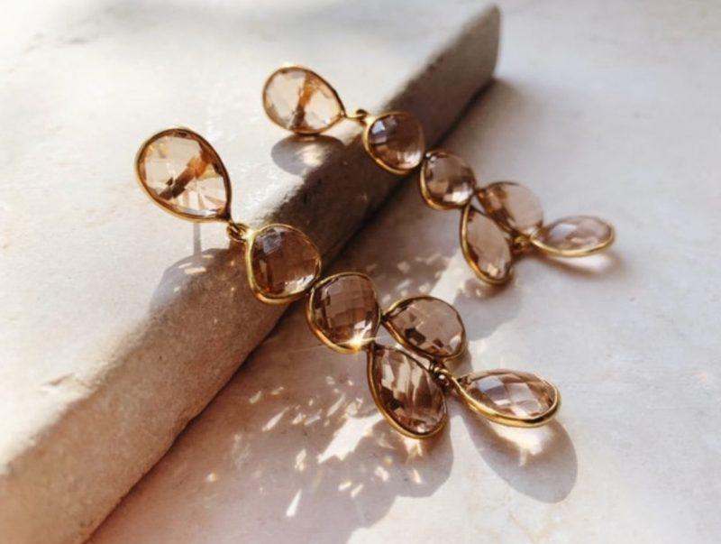 champagne- drop-earrings