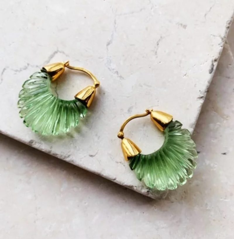 emerald-green-hoop-earrings
