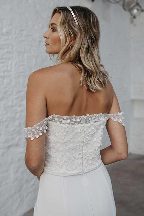 Love Story Bride Bardot Off-Shoulder Wedding Dress