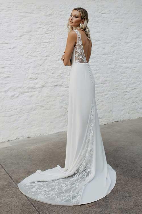 Love Story Bride Emmy Wedding Dress Lace Detail