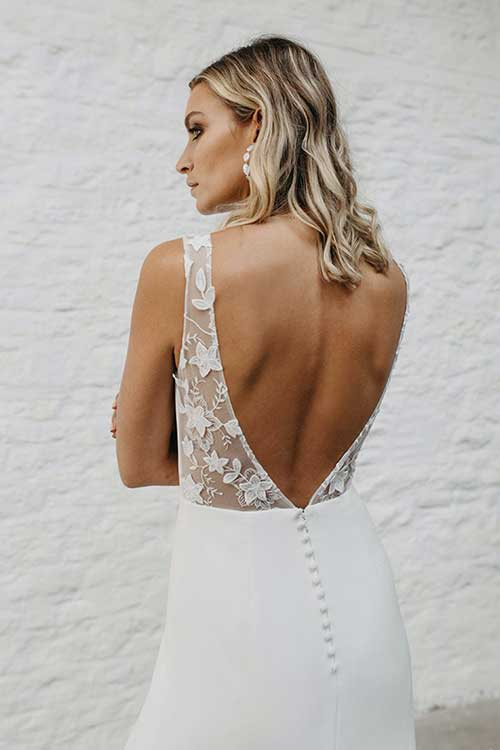 Love Story Bride Emmy Wedding Dress Back Detail