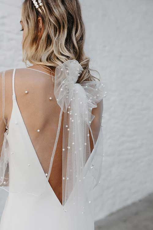 Love Story Bride Pearl Wedding Top