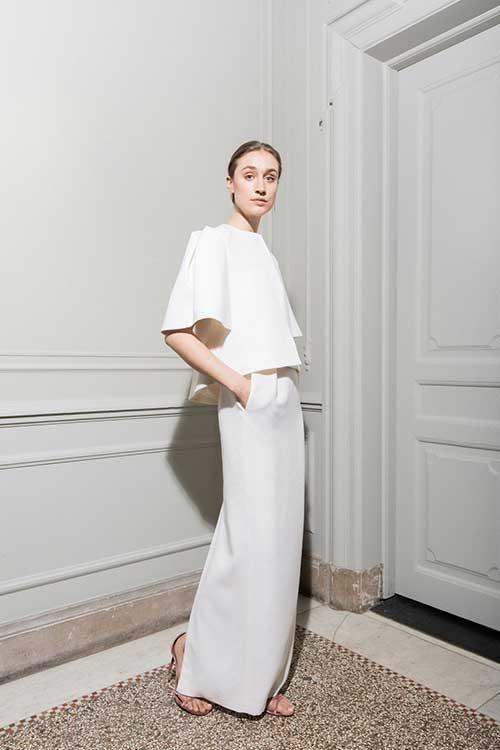 Maria Fekih Aleea Wedding Dress Jacket Full Length