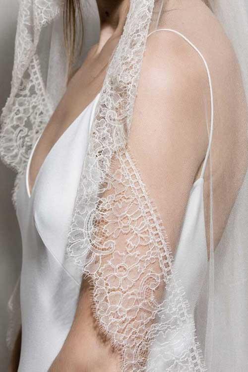 Maria Fekih Noomi Bridal Veil Lace Detail