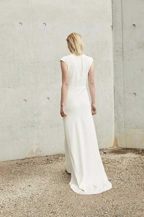 Maria Fekih SOS Simple Wedding Dress