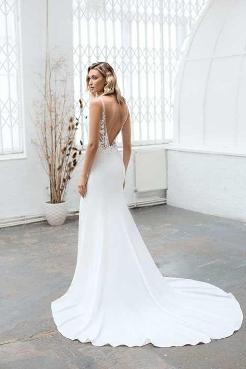 Love Story Bride Rita Silk Crepe Wedding Dress