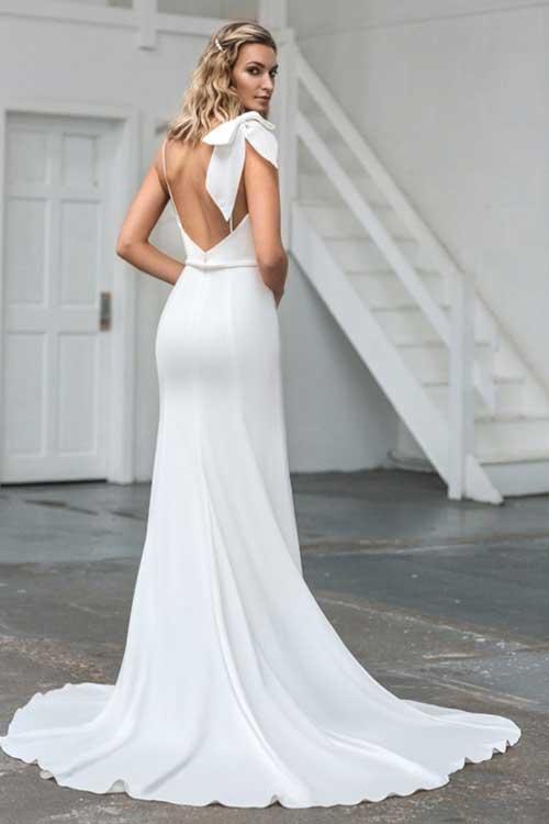 Love Story Bride Luna Silk Crepe Wedding Dress