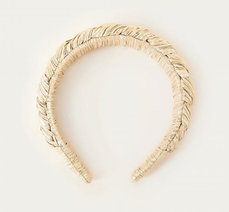 gold braided headband
