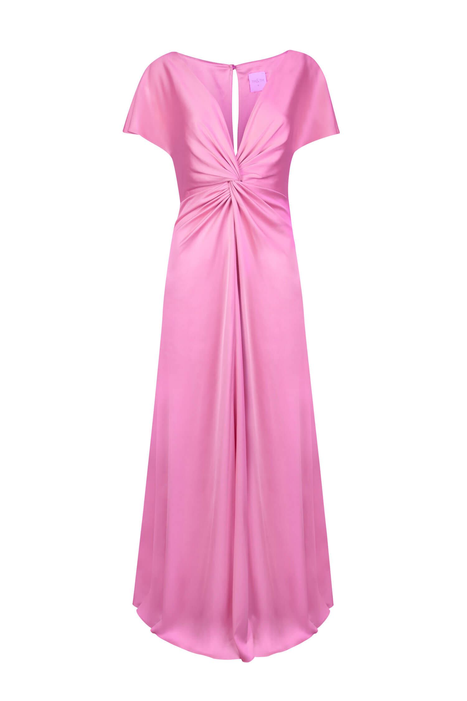 TH&H Camilla Bridesmaid Dress TH&H Bridesmaid Dress Bright Pink