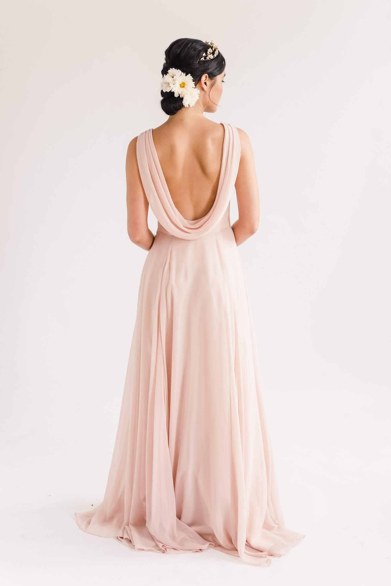 TH&H Athena Bridesmaid Dress Blush
