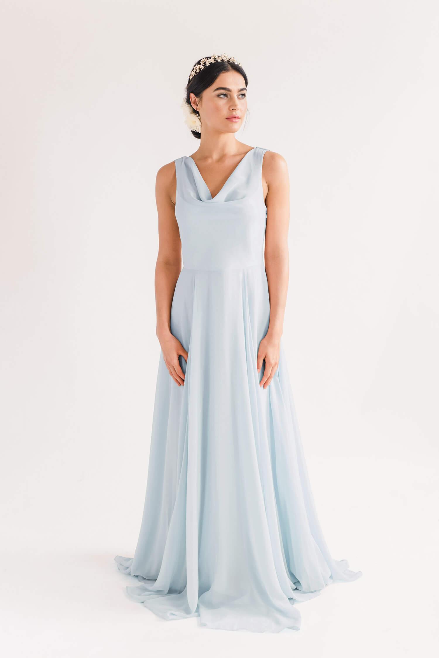 TH&H Athena Bridesmaid Dress TH&H Bridesmaid Dress Blue