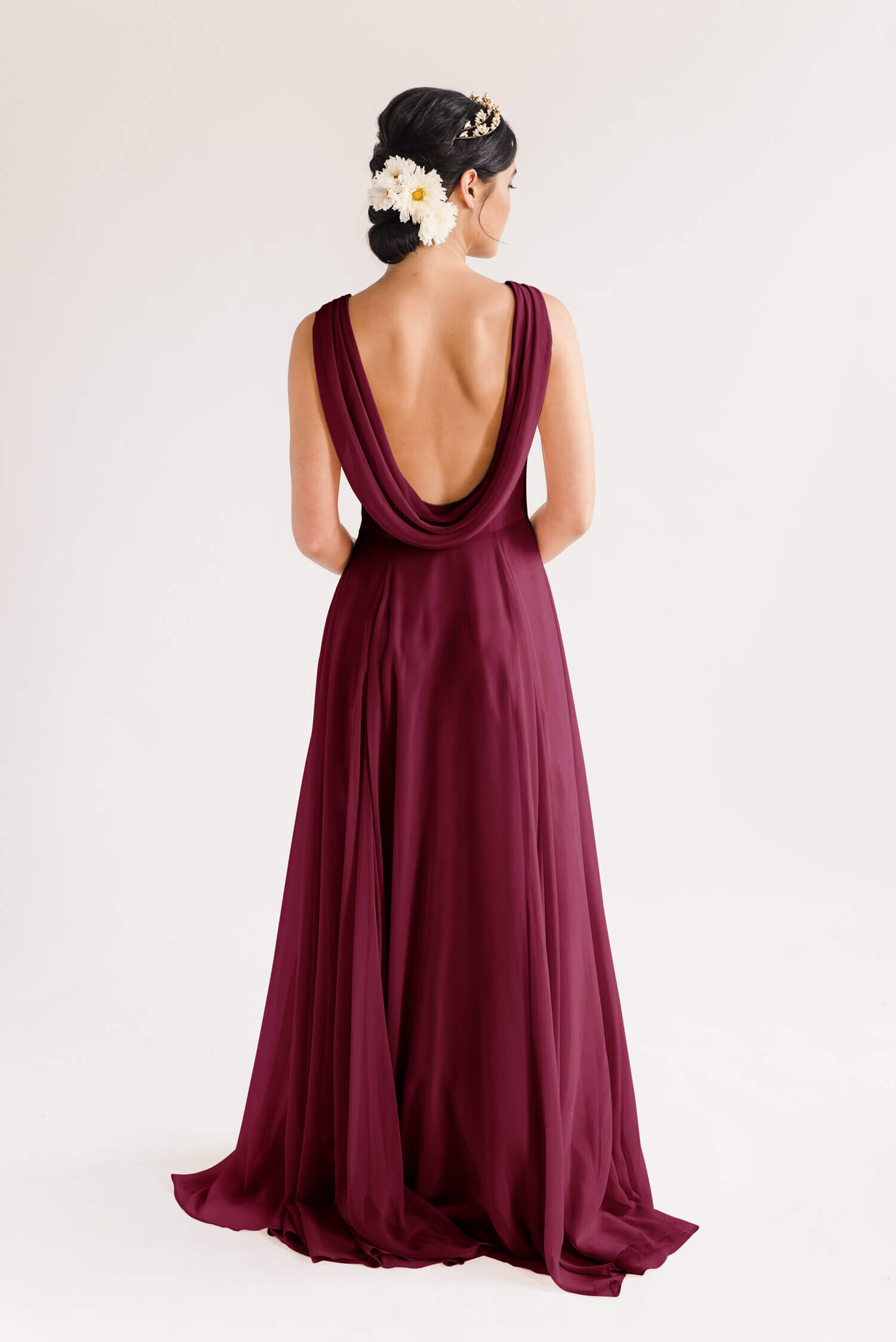 TH&H Athena Bridesmaid Dress Roseberry