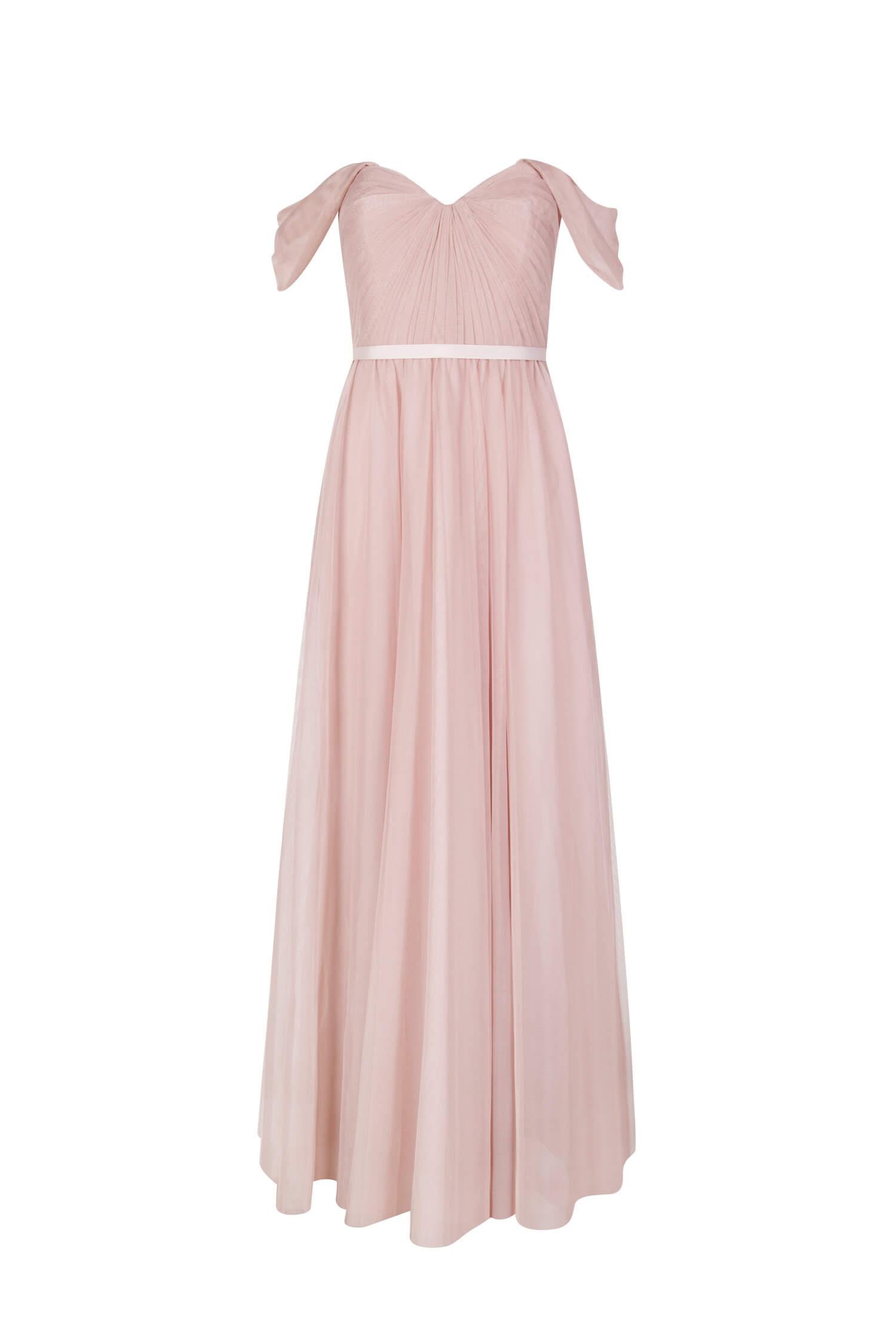 TH&H Bardot Bridesmaid Dress TH&H Bridesmaid Dress Blush
