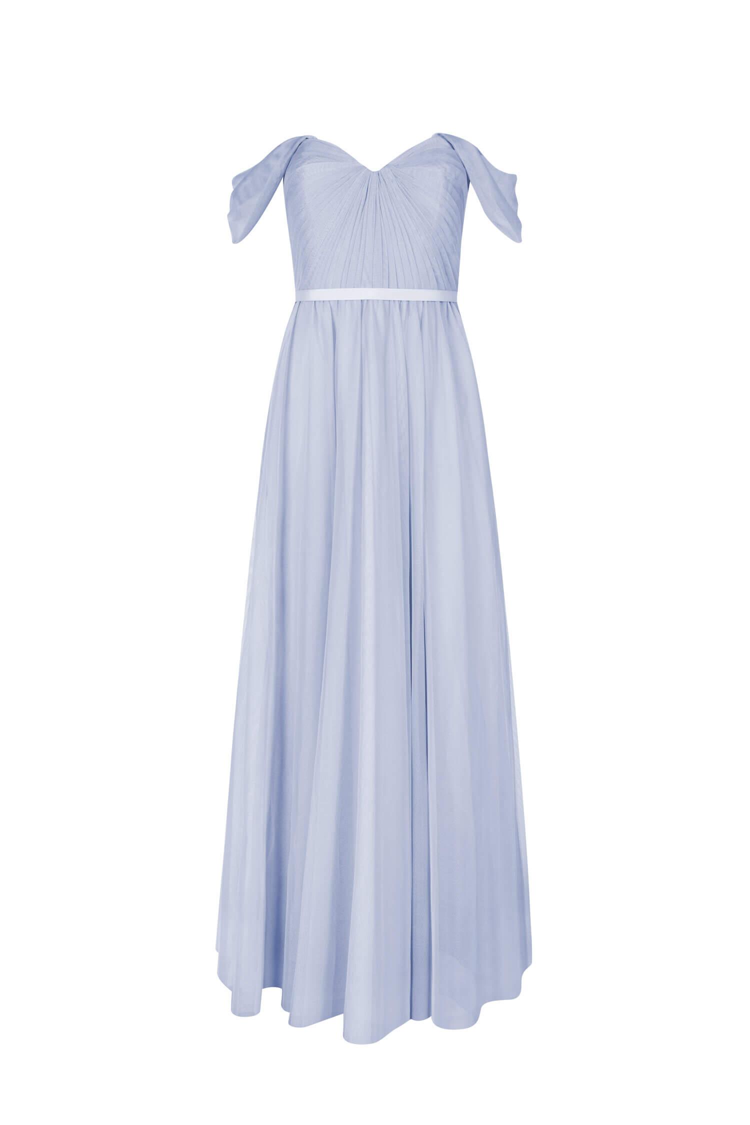 TH&H Bardot Bridesmaid Dress TH&H Bridesmaid Dress Powder Blue