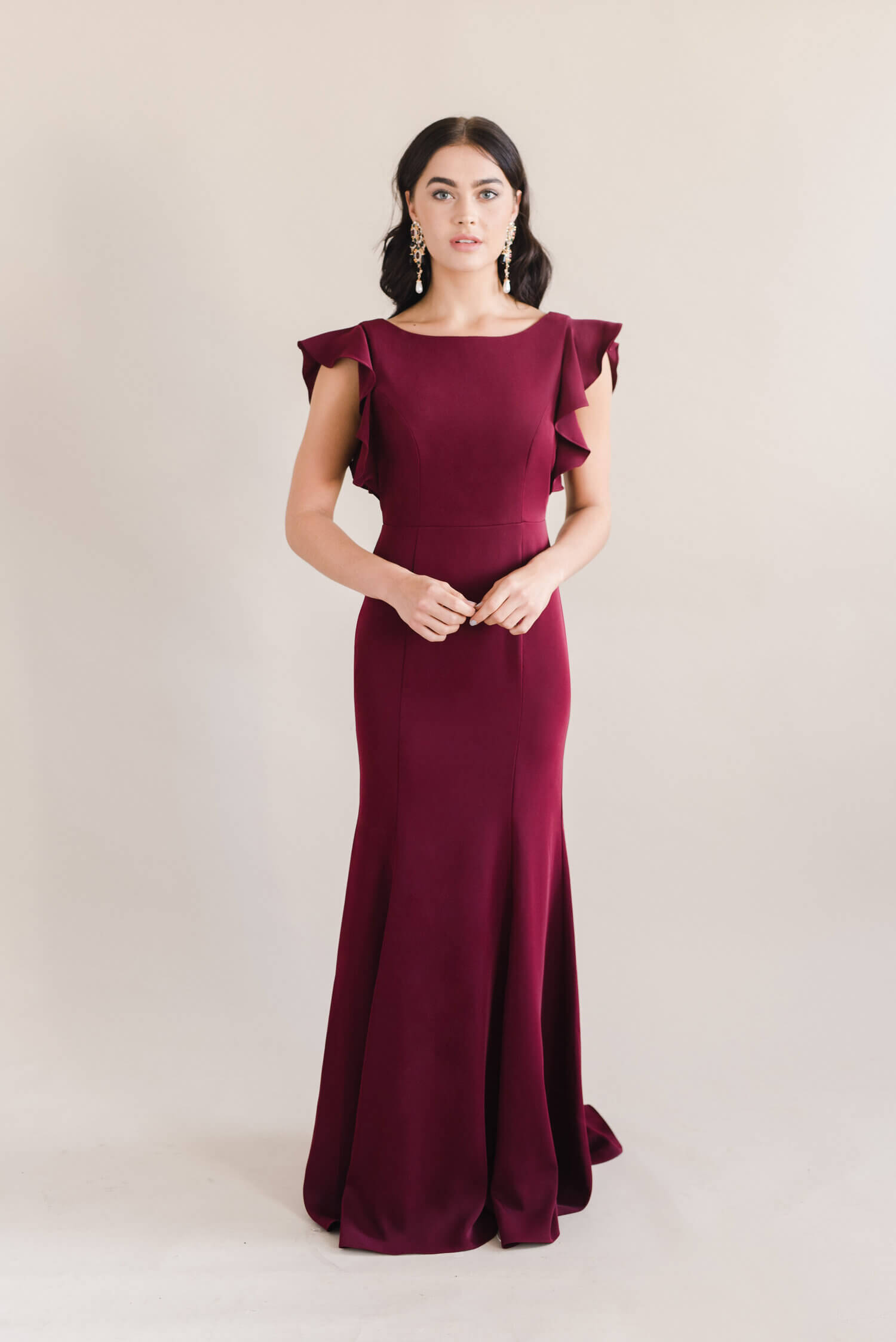 TH&H Cecelia Bridesmaid Dress TH&H Bridesmaid Dress Roseberry Burgundy