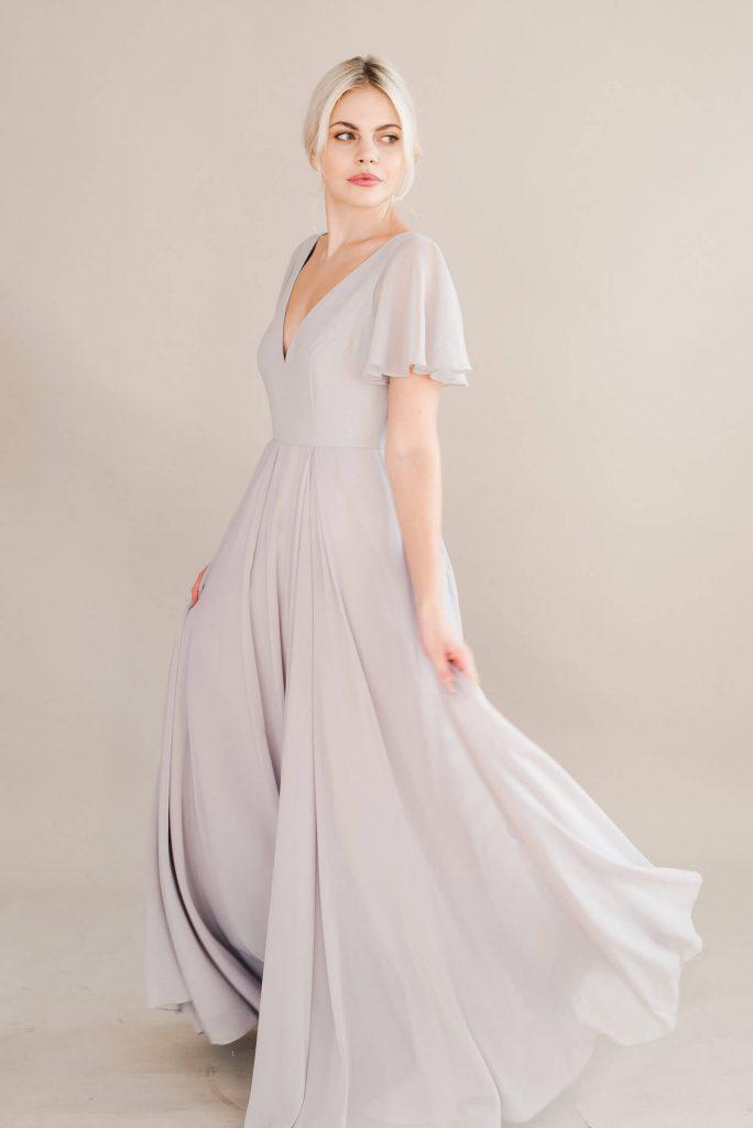 TH&H Phoebe Bridesmaid Dress TH&H Bridesmaid Dress Silver Mist