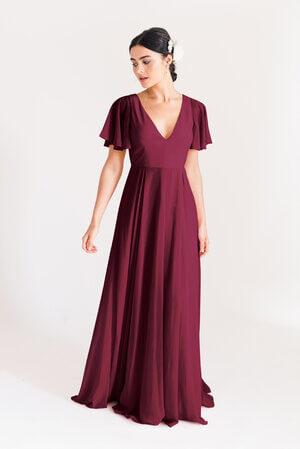 TH&H Phoebe Bridesmaid Dress TH&H Bridesmaid Dress Roseberry Burgundy
