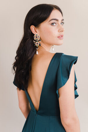 TH&H Bridesmaid Dress Emerald