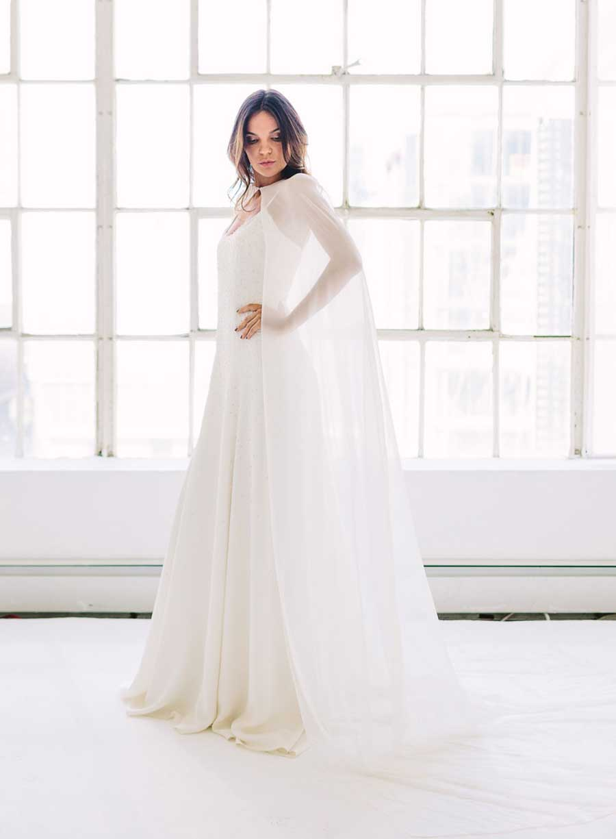 Tatyana Merenyuk Cape Wedding Dress