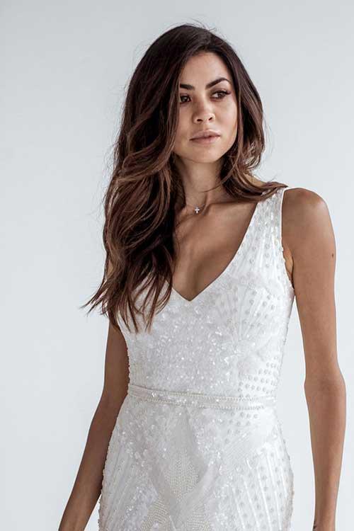 Karen Willis Holmes Sequin Fontanne Dress