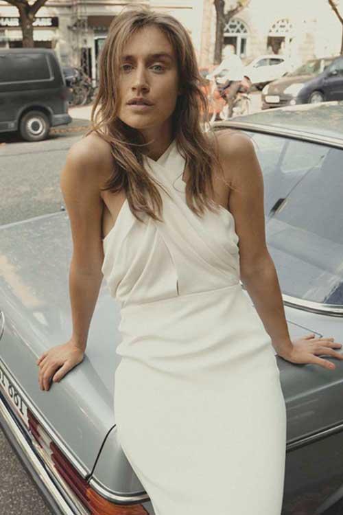 Maria Fekih Iben Wedding Dress Halter