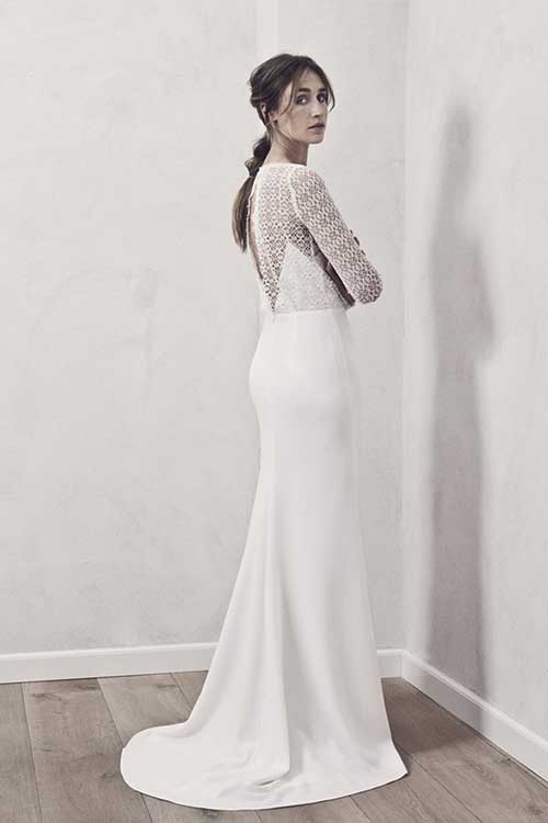 Maria Fekih Idunn Wedding Dress Side and Back
