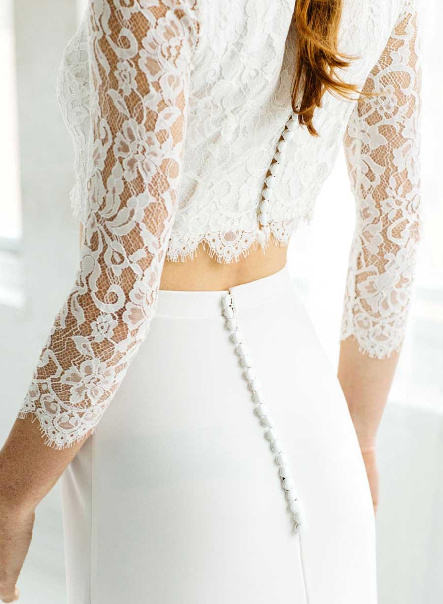 Tatyana Merenyuk Lace Wedding Top and Skirt